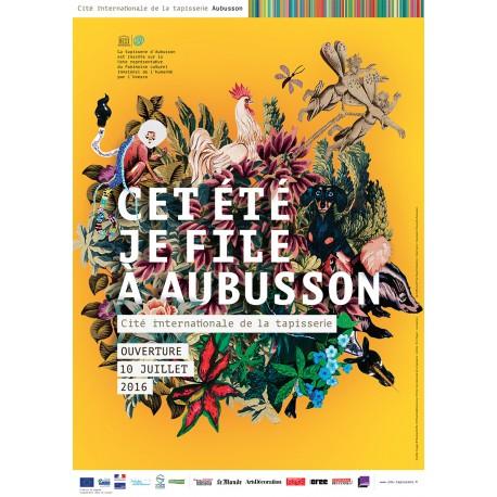 """Affiche """"Je file à Aubusson"""""""