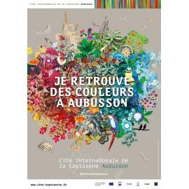"""Affiche """"Je retrouve des couleurs à Aubusson"""""""
