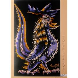 Poster Coq Sabreur, d'après Jean Lurçat