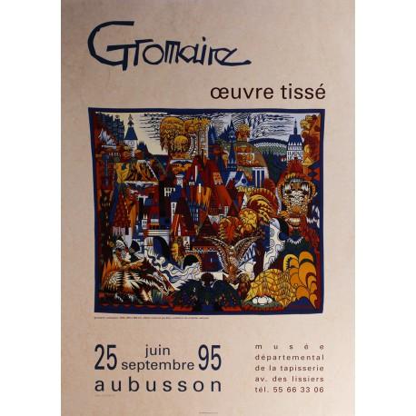 Affiche  Marcel Gromaire, œuvre tissé, exposition du 25 juin au 25 septembre 1995