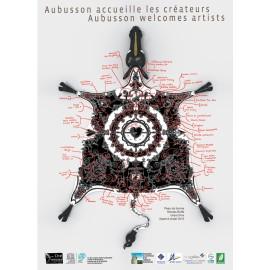 Affiche Peau de Licorne, maquette annotée