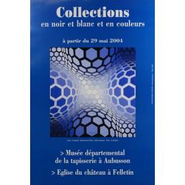 Affiche Collections en noir et blanc et en couleurs (Vasarely)